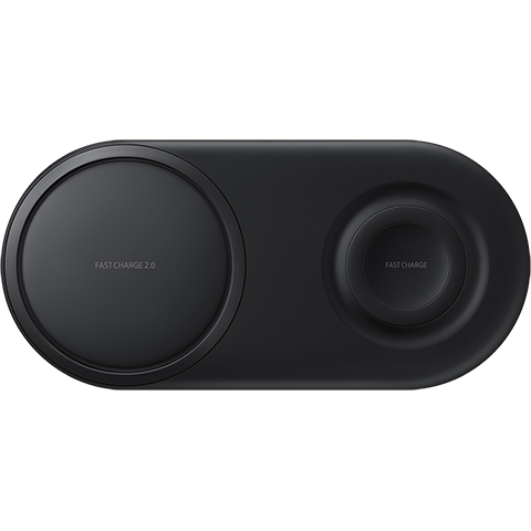 Samsung Wireless Charger Duo Pad - Schwarz 99929182 seitlich
