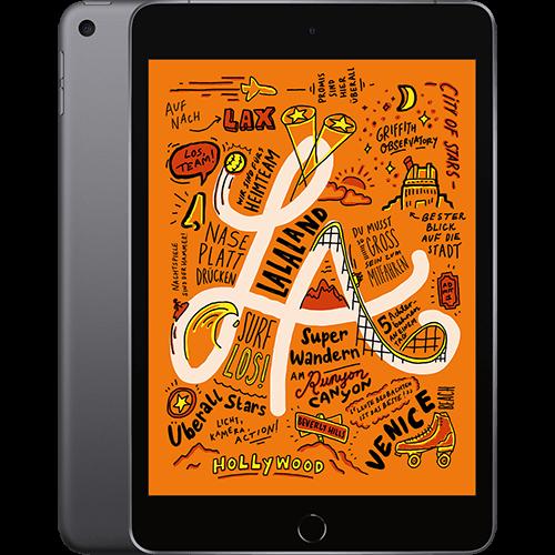 Apple iPad mini WiFi Space Grau Vorne und Hinten