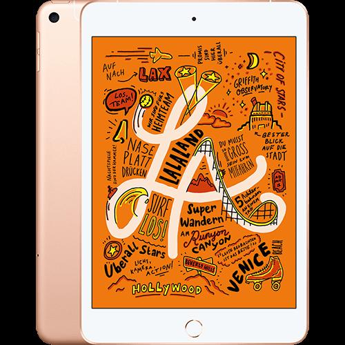 Apple iPad mini WiFi und Cellular Gold Vorne und Hinten