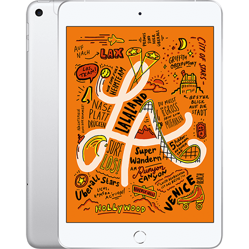 Apple iPad mini WiFi und Cellular Silber Vorne und Hinten