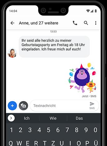 SMS + Einzel-/Gruppen-Chats in einer App