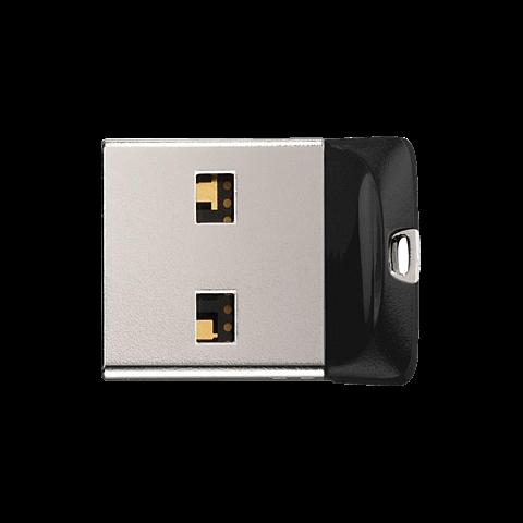 SanDisk Cruzer Fit USB 2.0 Flash Drive - Schwarz 99929170 seitlich