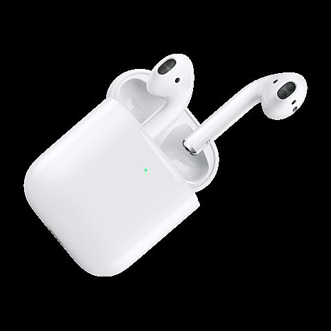 Apple AirPods mit kabellosem Ladecase - Weiß 99929270 seitlich