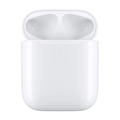 Apple Kabelloses Ladecase für AirPods - Weiß 99929272 seitlich