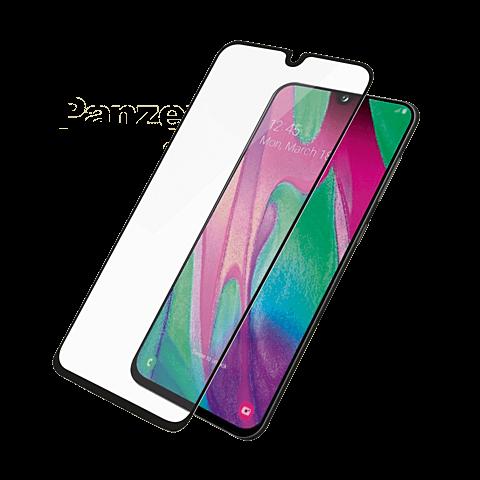 PanzerGlass Display Glas Samsung Galaxy A40 - Schwarz 99929157 vorne