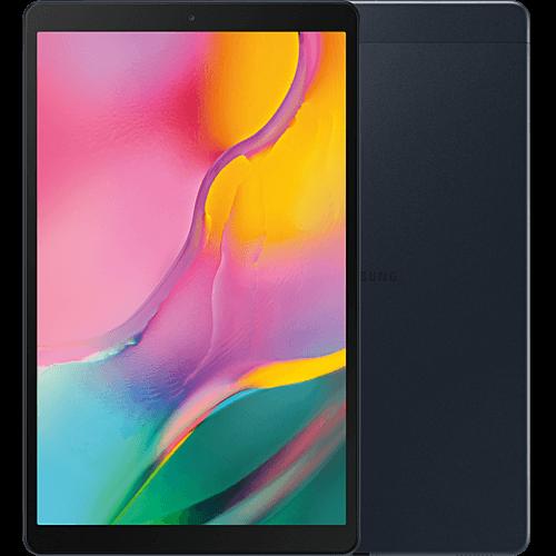 Samsung Galaxy Tab A 10.1 LTE (2019) Schwarz Vorne und Hinten