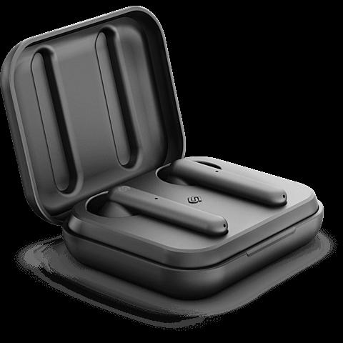 Urbanista Stockholm True Wireless Bluetooth-Kopfhörer - Schwarz 99929056 seitlich