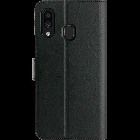 xqisit Slim Wallet Selection Samsung Galaxy A40 - Schwarz 99929162 hinten