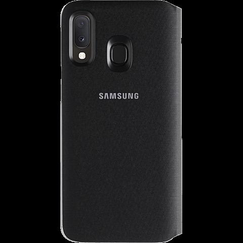Samsung Wallet Cover Galaxy A20e - Schwarz 99929357 hinten