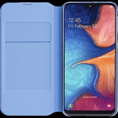 Samsung Wallet Cover Galaxy A20e - Schwarz 99929357 seitlich