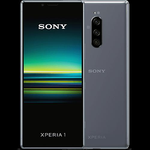 Sony Xperia 1 Grau Vorne und Hinten