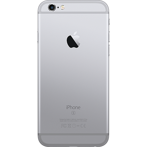 Apple iPhone 6s Spacegrau Hinten