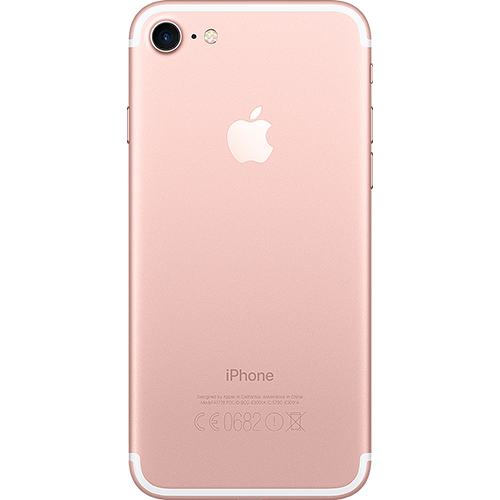 Apple iPhone 7 Rosegold Hinten