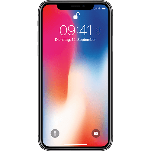 Apple iPhone X Spacegrau Vorne