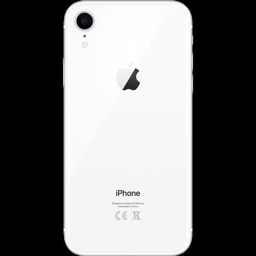 Apple iPhone XR Weiss Hinten