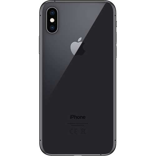 Apple iPhone XS Spacegrau Hinten