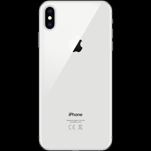 Apple iPhone XS Max Silber Hinten