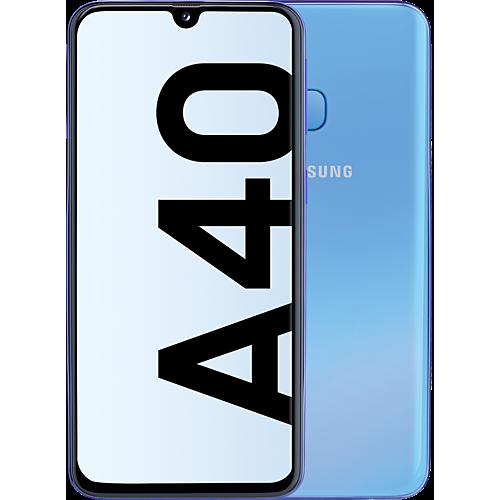 Samsung Galaxy A40 Blau Vorne und Hinten