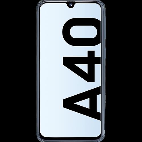 Samsung Galaxy A40 Schwarz Vorne