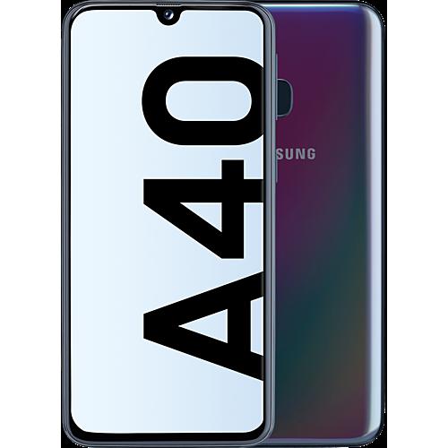 Samsung Galaxy A40 Schwarz Vorne und Hinten