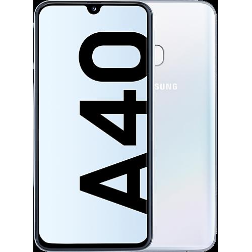 Samsung Galaxy A40 Weiß Vorne und Hinten