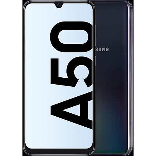 Samsung Galaxy A50 Schwarz Vorne und Hinten