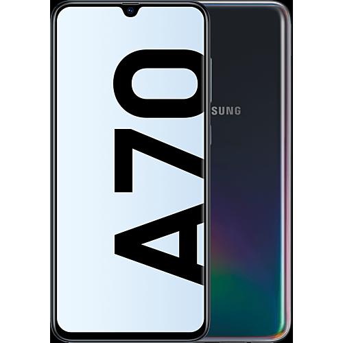Samsung Galaxy A70 Schwarz Vorne und Hinten