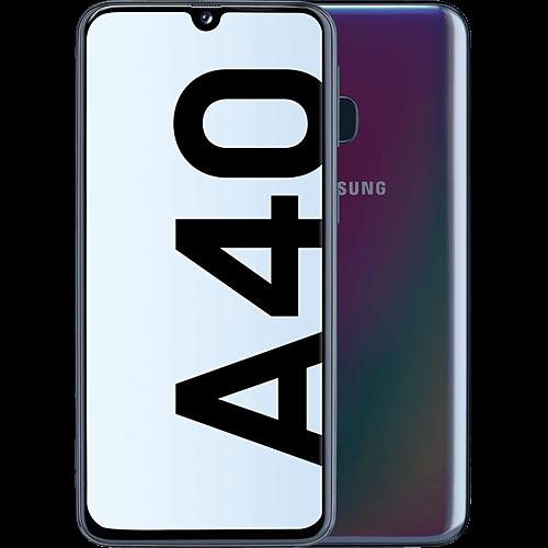 Samsung Galaxy A40 Enterprise Edition Prism Black Vorne und Hinten