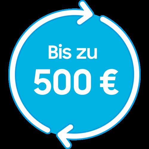 Bis zu 500 €