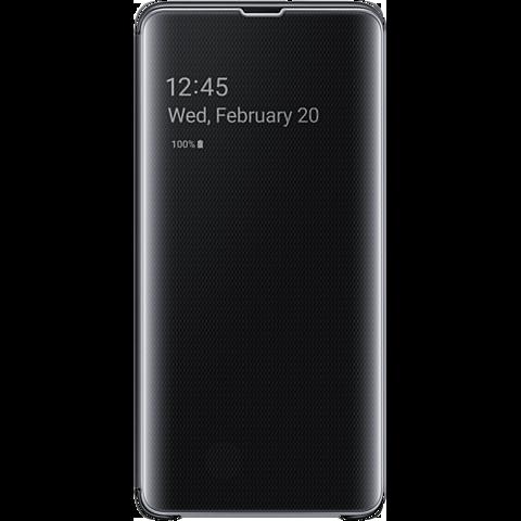 Samsung Clear View Cover Galaxy S10 5G - Schwarz 99929452 vorne