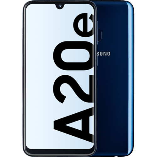Samsung Galaxy A20e Blau Vorne und Hinten