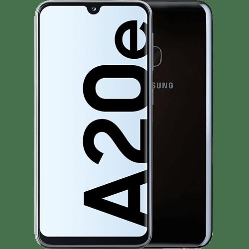 Samsung Galaxy A20e Schwarz Vorne und Hinten