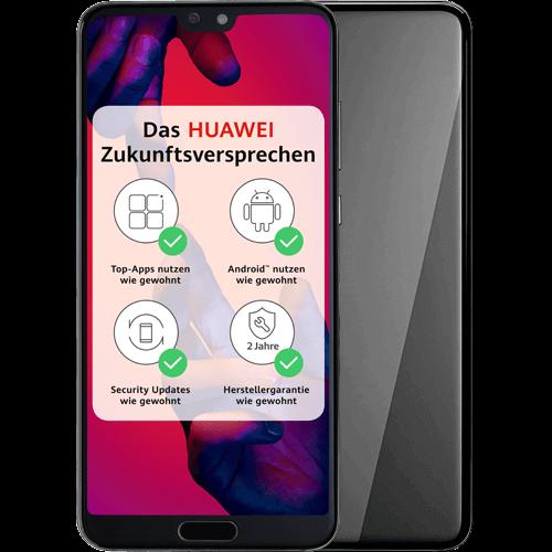 HUAWEI P20 Pro Schwarz Vorne und Hinten
