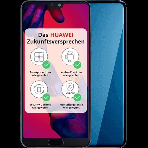 HUAWEI P20 Pro Blau Vorne und Hinten