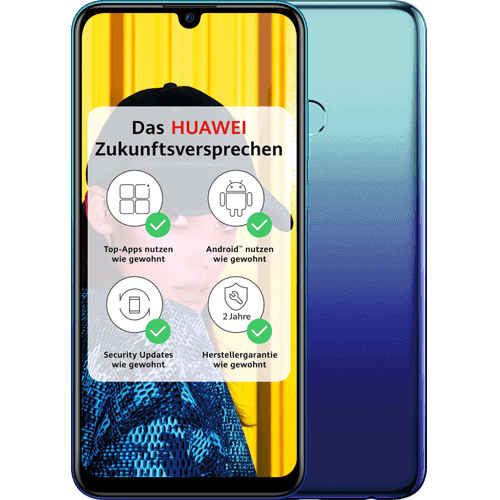 HUAWEI P smart 2019 Blau Vorne und Hinten