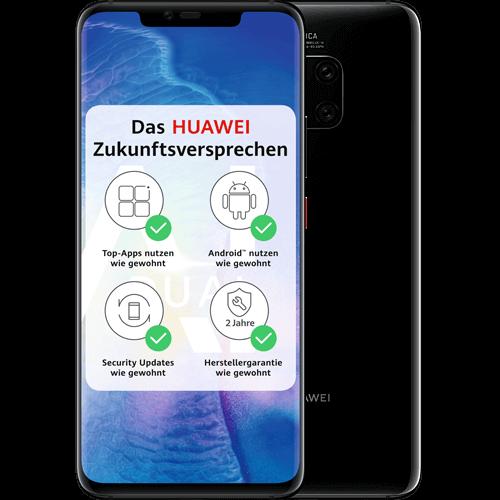 HUAWEI Mate20 Pro Schwarz Vorne und Hinten
