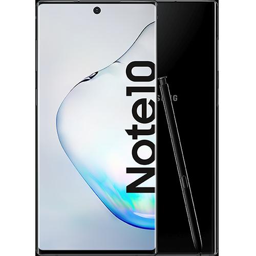 Samsung Galaxy Note10 Aura Black Vorne und Hinten