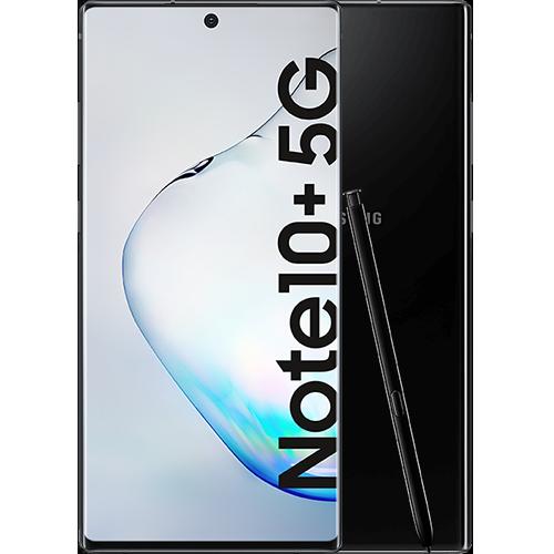 Samsung Galaxy Note10+ 5G Aura Black Vorne und Hinten