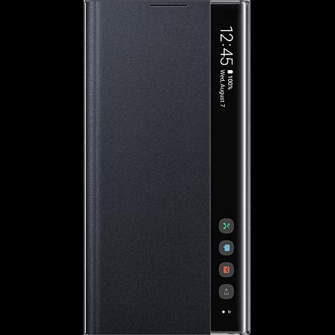 Samsung Clear View Cover Galaxy Note 10+ Schwarz 99929637 vorne