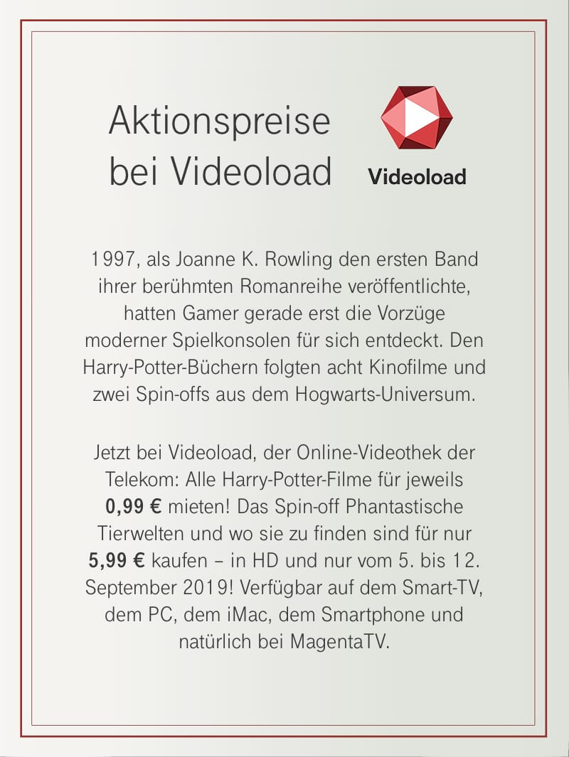 Harry Potter Wizards Unite - Videoload Angebot