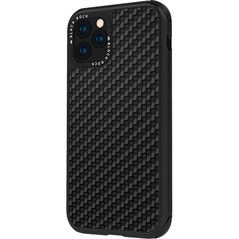 Black Rock Robust Real Carbon Case Apple iPhone 11 Pro - Schwarz 99929683 vorne