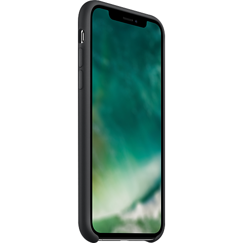 xqisit Liquid Silikon Case Apple iPhone 11 - Schwarz 99929764 seitlich