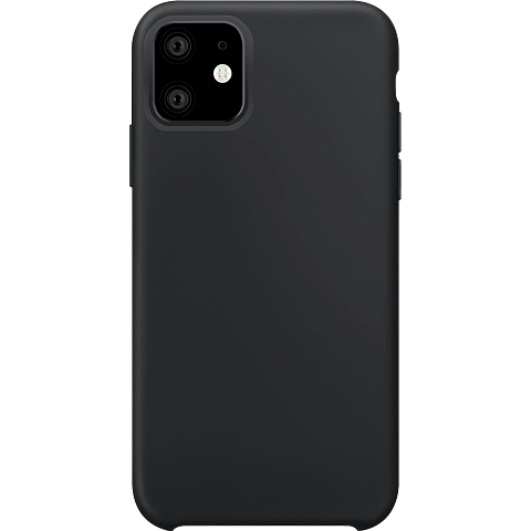 xqisit Liquid Silikon Case Apple iPhone 11 - Schwarz 99929764 vorne