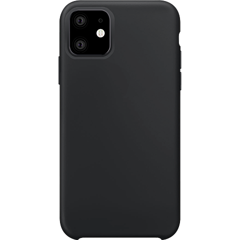 xqisit Liquid Silikon Case Apple iPhone 11 - Schwarz 99929764 hero