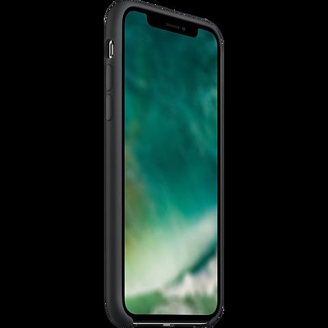 xqisit Liquid Silikon Case Apple iPhone 11 Pro - Schwarz 99929762 seitlich