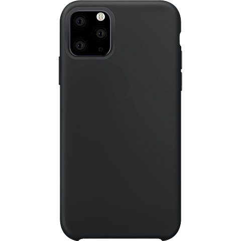 xqisit Liquid Silikon Case Apple iPhone 11 Pro - Schwarz 99929762 vorne