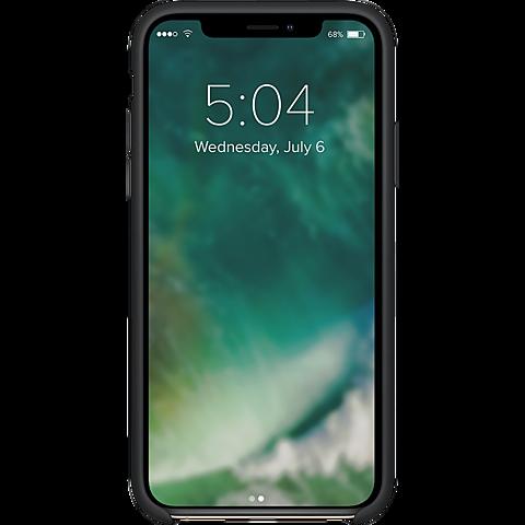 xqisit Liquid Silikon Case Apple iPhone 11 Pro - Schwarz 99929762 hinten
