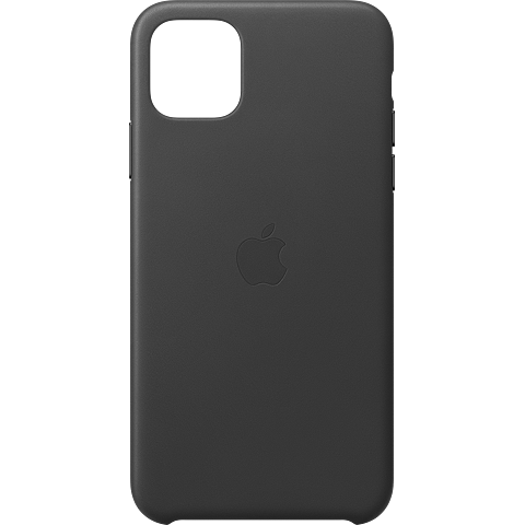 Apple Leder Case iPhone 11 Pro Max - Schwarz 99929735 vorne