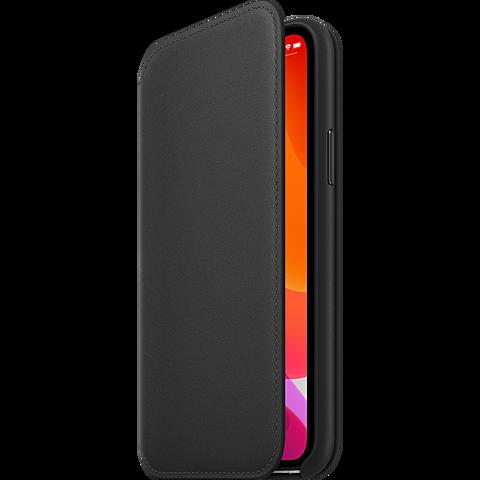 Apple Leder Folio Case iPhone 11 Pro - Schwarz 99929809 seitlich