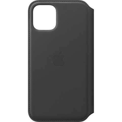 Apple Leder Folio Case iPhone 11 Pro - Schwarz 99929809 vorne